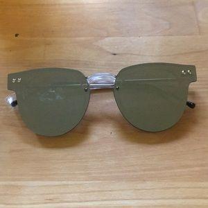 Spitfire Sharper Edge Clear Mirrored Clubmaster